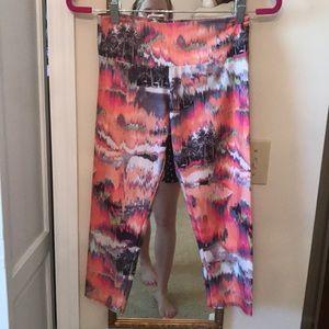 Colorful palm printed leggings